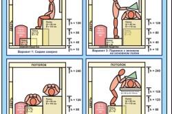 Варианты размеров скамеек для бани