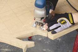 Вырезание деталей для тумбы