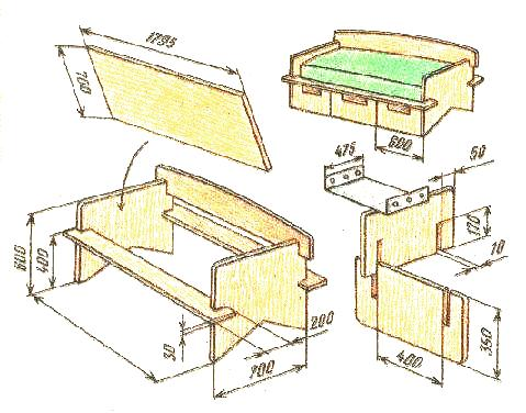 Сборка дивана-кровати своими руками фото 549