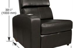 Схема размеров раскладного кресла