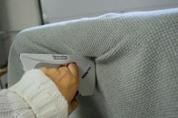 Крепление ткани степлером