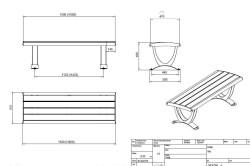 Схема металлической скамейки.
