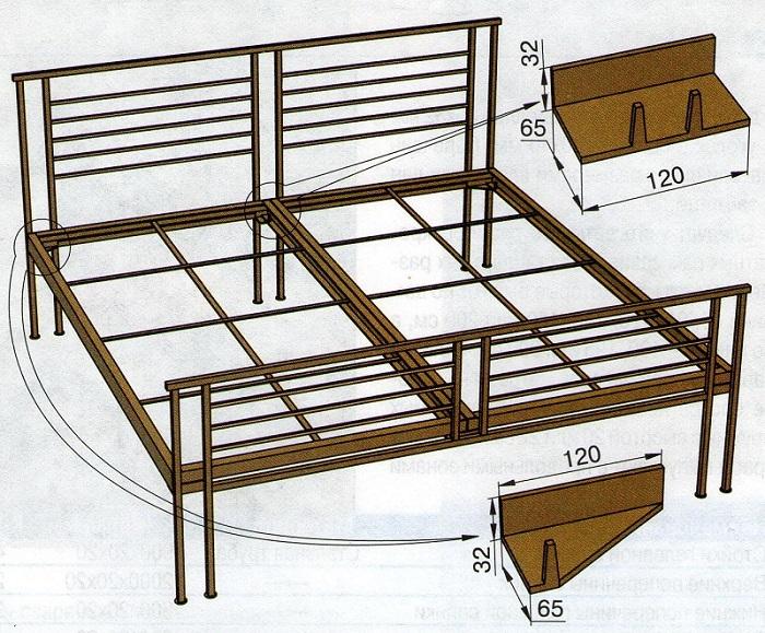 Схема шкаф кровати