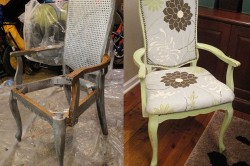 Переделка стула с мягкой обивкой