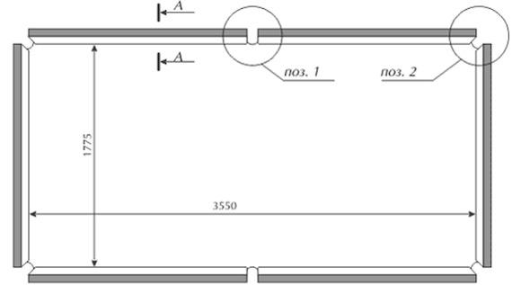 Схема размеров бильярдного