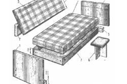 Элементы раскладного дивана-кровати