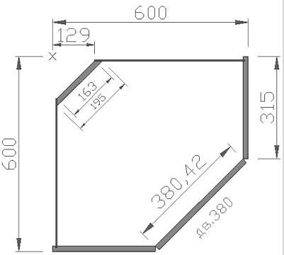 Расчет угловых шкафов на кухню