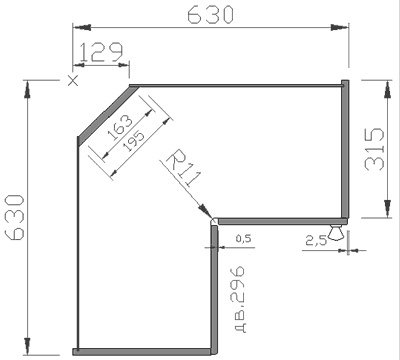 Угловой кухонный модуль