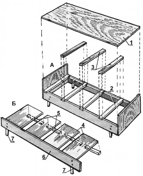 Основные детали и схема сборки