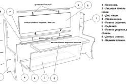 Схема проекта кухонного дивана.