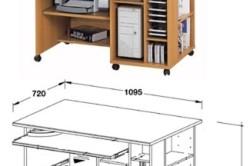 Чертеж компьютерного стола
