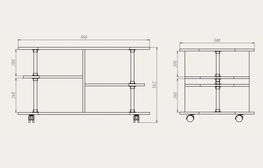 Столик из дсп своими руками чертеж 523