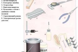 Инструменты для реставрации комода