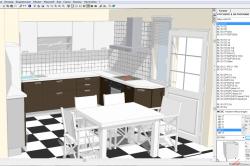Программа для составления дизайна кухни KitchenDraw