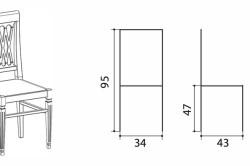 Схема размеров стула