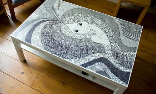 Роспись столика