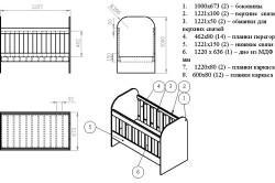 Схема детской кроватки