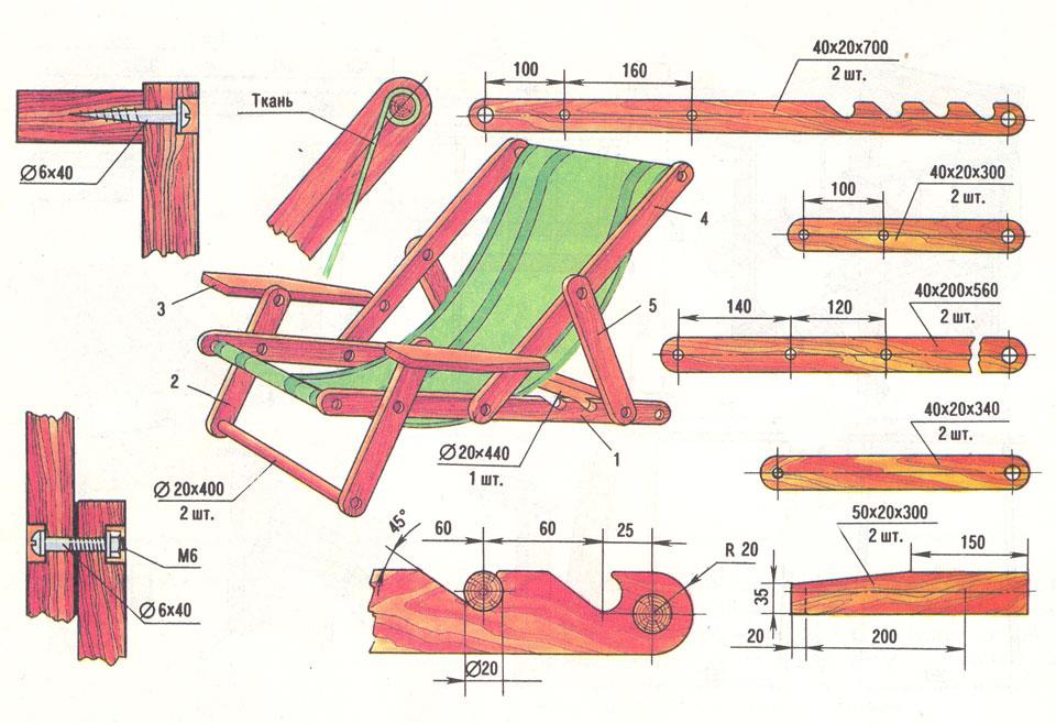 Изготовление дачной мебели своими руками чертежи