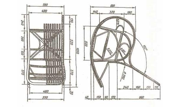 Схема кресла-качалки своими