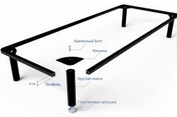 Схема монтажа металлического каркаса кровати