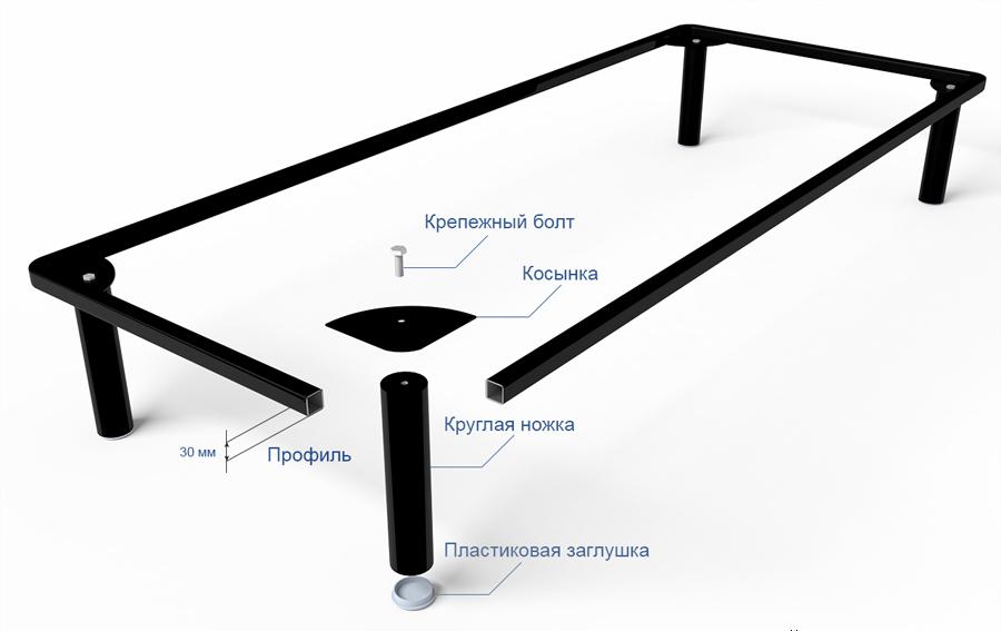 Схема монтажа металлического