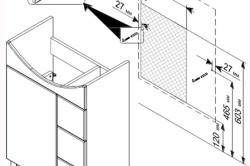 Схема монтажа тумбы под раковину