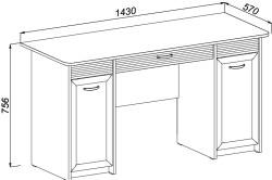 Схема письменного стола