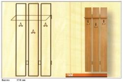 Схема размеров настенной вешалки