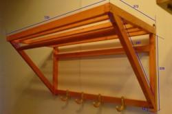 Схема размеров навесной вешалки