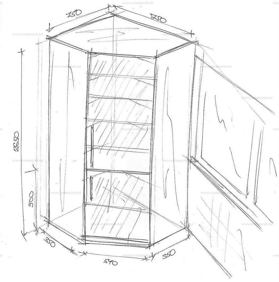 Угловой шкаф своими руками чертежи фото