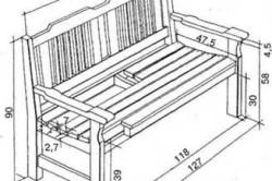 Схема размеров скамьи