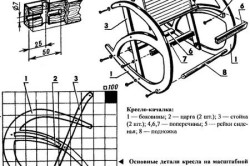 Схема сборки кресла-качалки