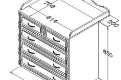 Схема стола-комода