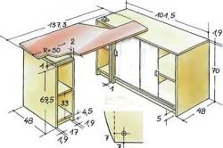 Схема выдвижного стола