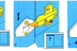 Схема регулирования мебельных петлей