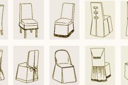 Виды чехлов на стул