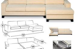 Размеры деталей углового дивана