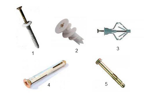 Необходимые крепежные элементы