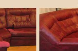 Пример до перетяжки дивана и после.