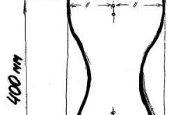 Схема боковушки стула