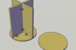 Схема сбора вырезанных деталей для пуфика