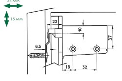 Схема подвешивания кухонного шкафа