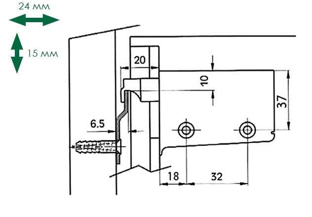 Схема подвешивания кухонного