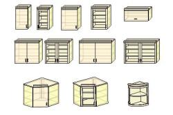 Некоторые разновидности навесных шкафов для кухни
