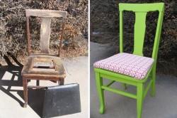Тканевый чехол как вариант обновления стульев