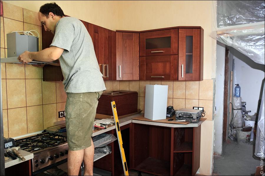 Ремонты кухни своими руками фото