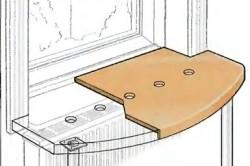 Схема стола из подоконника