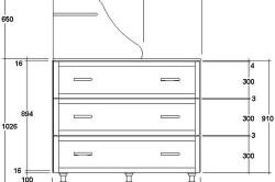 Схема комода с размерами