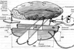 Схема сборки мягкого пуфика