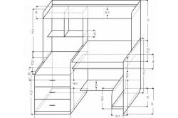 Схема сборки компюьтерного стола